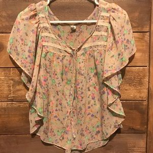 Old Navy  Sheer Floral Top XS
